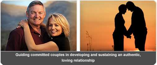 Couples learn how to create and sustain authentic, loving relationships.